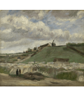 Vincent Van Gogh - Quarry of Montmartre with mills. Printing on canvas