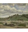 Vincent Van Gogh - Cava di Montmartre con mulini. Stampa su tela