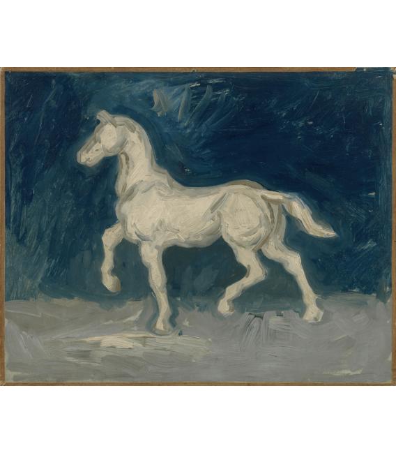 Stampa su tela: Vincent Van Gogh - Cavallo