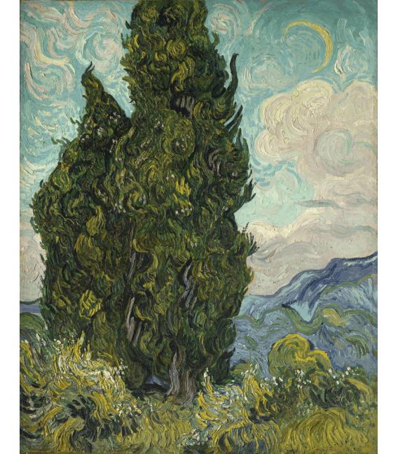 Printing on canvas: Vincent Van Gogh - Cypresses