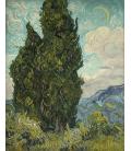 Stampa su tela: Vincent Van Gogh - Cipressi