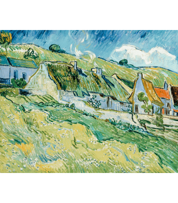Stampa su tela: Vincent Van Gogh - Cottages