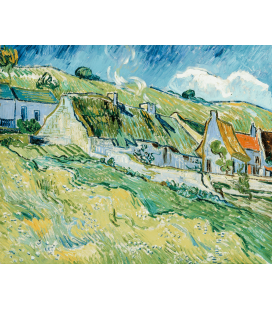 Stampa su tela: Vincent Van Gogh - Cottages