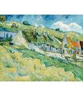 Vincent Van Gogh - Cottages. Stampa su tela