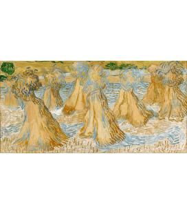 Stampa su tela: Vincent Van Gogh - Covoni di grano
