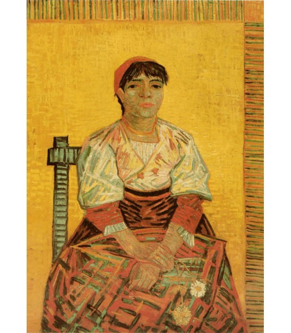 Stampa su tela: Vincent Van Gogh - Donna italiana