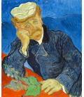 Vincent Van Gogh - Dr. Paul Gachet. Stampa su tela