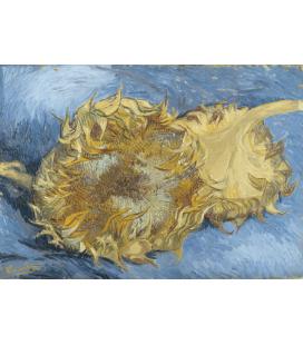 Stampa su tela: Vincent Van Gogh - Due girasoli recisi