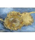 Vincent Van Gogh - Due girasoli recisi. Stampa su tela