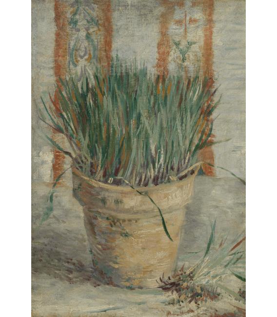 Stampa su tela: Vincent Van Gogh - Erba cipollina in vaso