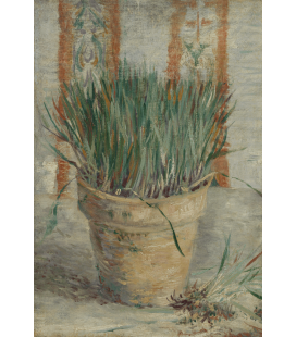 Vincent Van Gogh - Flowerpot with Garlic Chivest. Printing on canvas