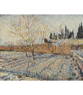 Vincent Van Gogh - Orchard with cypress. Printing on canvas