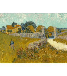 Stampa su tela: Vincent Van Gogh - Farmhouse in Provence