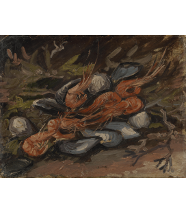 Vincent Van Gogh - Prawns and Mussels. Printing on canvas