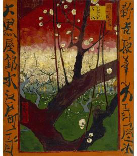 Vincent Van Gogh - Giapponeseria, susino in fiore (vicino Hiroshige). Stampa su tela