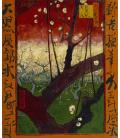 Stampa su tela: Vincent Van Gogh - Giapponeseria, susino in fiore (vicino Hiroshige)