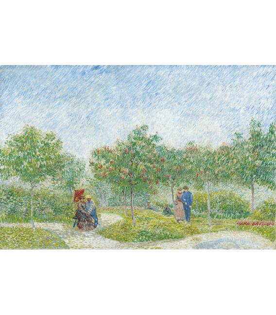 Stampa su tela: Vincent Van Gogh - Giardino con corteggiamento coppie Piazza Saint Pierre