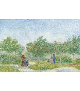 Vincent Van Gogh - Giardino con corteggiamento coppie Piazza Saint Pierre. Stampa su tela