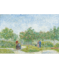 Printing on canvas: Vincent Van Gogh - Garden with Courting Couples: Square Saint-Pierre