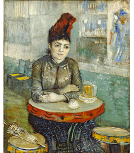 Vincent Van Gogh - In the café . Stampa su tela