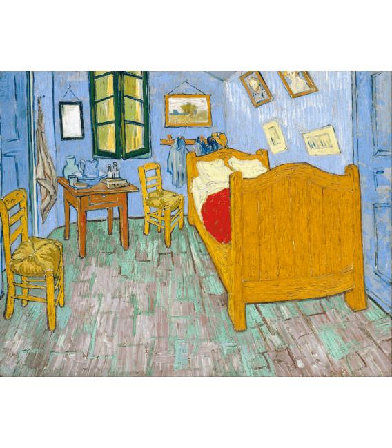 Stampa su tela: Vincent Van Gogh - La camera di Vincent ad Arles