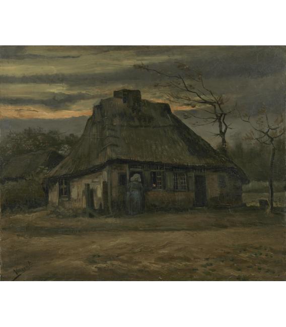 Stampa su tela: Vincent Van Gogh - La capanna