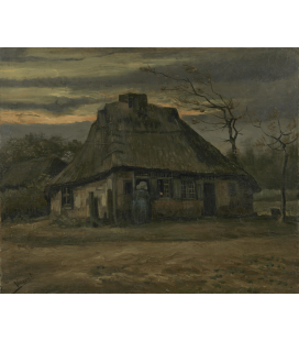 Vincent Van Gogh - The Cottage. Printing on canvas