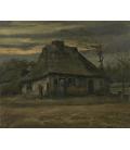 Vincent Van Gogh - La capanna. Stampa su tela