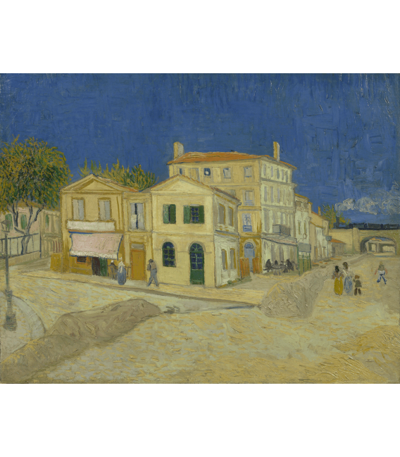 Printing on canvas: Vincent Van Gogh - The Yellow House (Vincent's house)