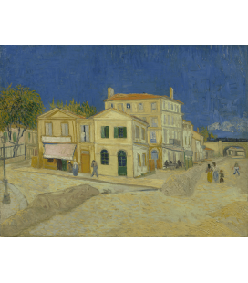 Vincent Van Gogh - The Yellow House (Vincent's house). Printing on canvas