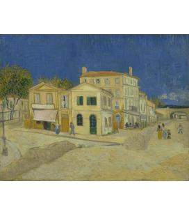 Vincent Van Gogh - La casa gialla (La casa di Vincent). Stampa su tela