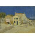 Stampa su tela: Vincent Van Gogh - La casa gialla (La casa di Vincent)