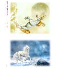 Decoupage rice paper: Unicorn, White Horse