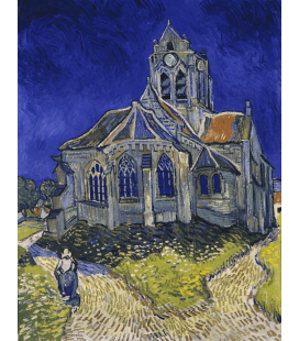 Vincent Van Gogh - The Church at Auvers-sur-Oise. Printing on canvas