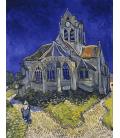 Vincent Van Gogh - La chiesa di Auvers-sur-Oise. Stampa su tela