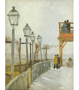 Vincent Van Gogh - Montmartre, nel mulino superiore. Stampa su tela