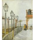 Stampa su tela: Vincent Van Gogh - Montmartre, nel mulino superiore