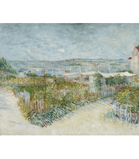 Vincent Van Gogh - Montmartre, the back of the Moulin de la Galette. Printing on canvas