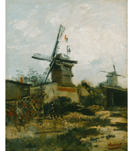 Vincent Van Gogh - Mills in Montmartre. Printing on canvas
