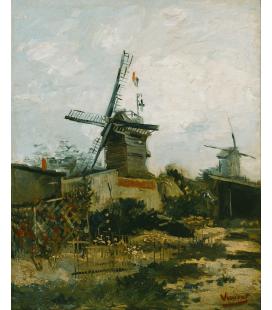Vincent Van Gogh - Mulini a Montmartre. Stampa su tela