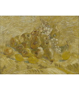 Vincent Van Gogh - Still Life with Grapes, Pears and Lemons. Printing on canvas