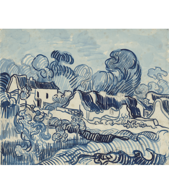 Printing on canvas: Vincent Van Gogh - Landscape with Houses