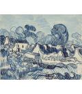 Vincent Van Gogh - Paesaggio con case. Stampa su tela