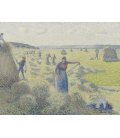 Vincent Van Gogh - Hay Harvest at Éragny. Printing on canvas