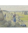 Vincent Van Gogh - Raccolta del fieno a Eragny. Stampa su tela