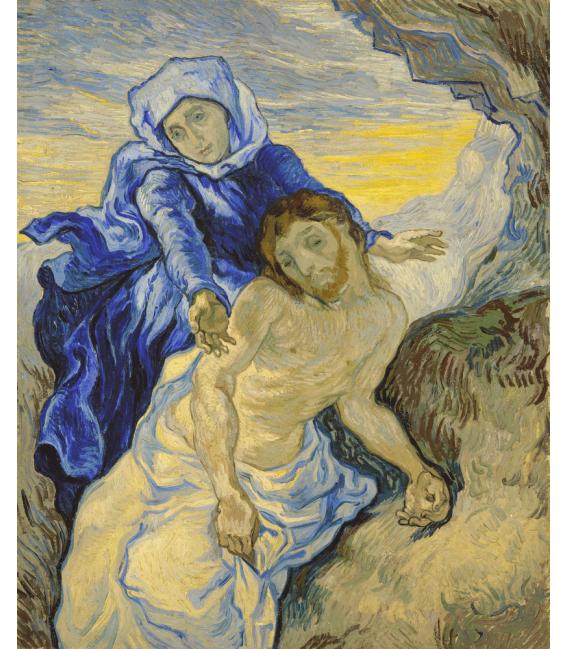 Stampa su tela: Vincent Van Gogh - Pietà