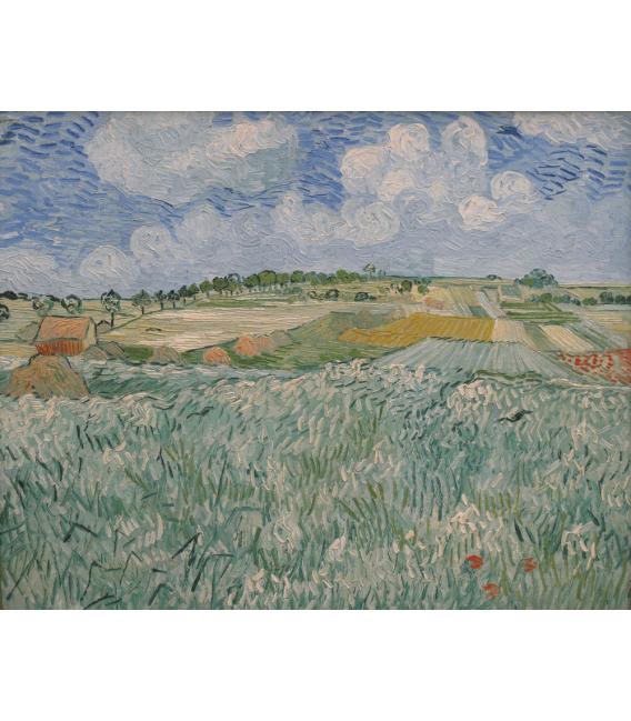 Stampa su tela: Vincent Van Gogh - Pianura di Auvers