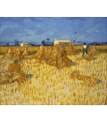 Vincent Van Gogh - Raccolto di mais in Provenza. Stampa su tela