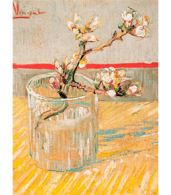 Stampa su tela: Vincent Van Gogh - Ramo di Mandorlo in Fiore in un Bicchiere