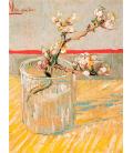 Vincent Van Gogh - Ramo di Mandorlo in Fiore in un Bicchiere. Stampa su tela